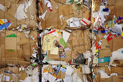 Pressed cardboard, recycling, buyback centre