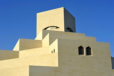 Museum of Islamic Art, designed by I.M. PEI, Corniche, Doha, Qatar, Persian Gulf, Middle East, Asia