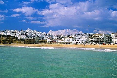 View of city, Albufeira, Algarve, Portugal, Europe