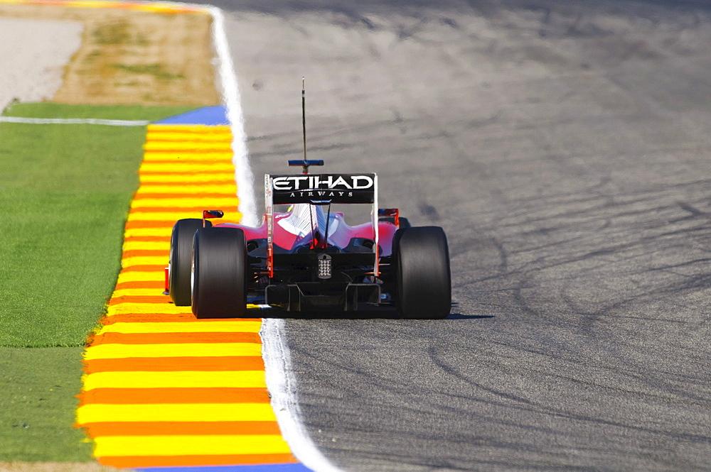 Felipe Massa, Bra, test driving the Ferrari F10 during Formula 1 test driving in Valencia, Spain, Europe