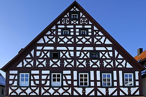 Franconian half-timbered house, 1684, Am Marktplatz, Ebermannstadt, Upper Franconia, Bavaria, Germany, Europe