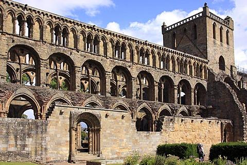 Ruins of the Augustinian abbey of Jedburgh, Scottish Borders, Scotland, United Kingdom, Europe