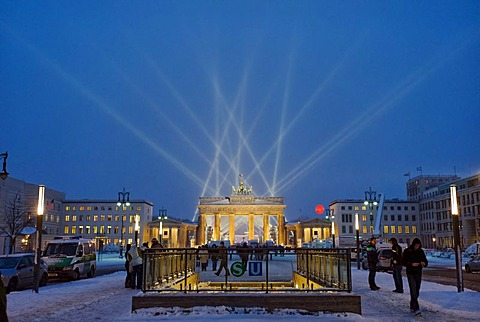New Years Eve 2009 at the Brandenburg Gate, Berlin, Germany, Europe