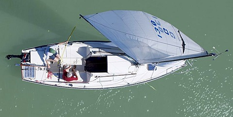 Sailboat, from above
