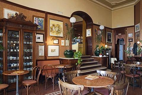 Cafe, Caffe Poliziano, Montepulciano, Tuscany, Italy, Europe