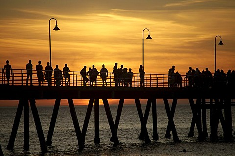 Sunset at the pier of Glenelg, Adelaide, South Australia, Australia