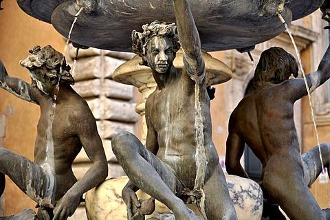 Ephebes statues, Fontane delle Tartarughe, The Turtle Fountain, Piazza Mattei square, the Jewish quarter, Rome, Lazio, Italy, Europe