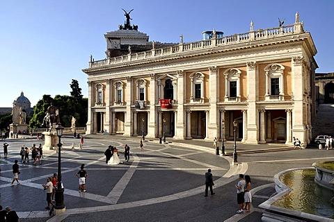 Palazzo Nuovo, Piazza del Campidoglio Capitol Square, Rome, Lazio, Italy, Europe