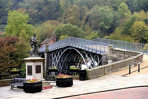 A view of the Iron Bridge, Ironbridge, Shropshire, England, United Kingdom, Europe