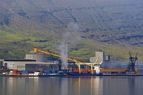Aluminium smelter in Reyarfjoerur, eastern fjords, Iceland, Europe