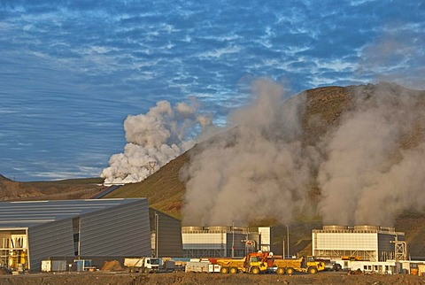 Geothermal power plant, Latrabjarg, Iceland, Europe - 832-170536
