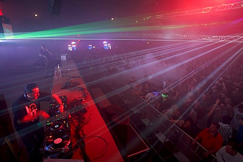 DJ Bad Boy Bill, Winter World 2010, techno festival in Sports Hall Oberwerth, Koblenz, Rhineland-Palatinate, Germany, Europe