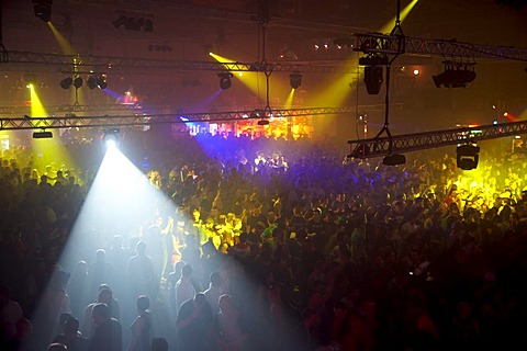 Winter World 2010, techno festival in Sports Hall Oberwerth, Koblenz, Rhineland-Palatinate, Germany, Europe