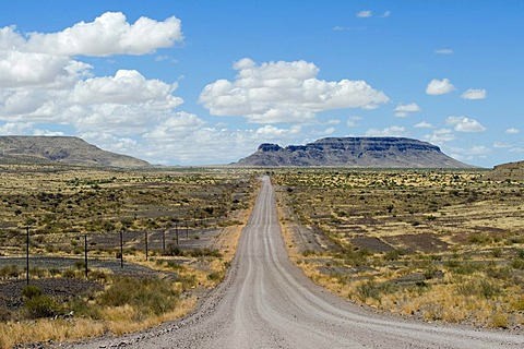 Gravel road from Keetmanshoop to Fish River Canyon in Namibia, Africa