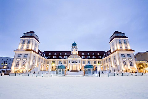 Binz Kurhaus, spa, Baltic seaside resort Binz, Ruegen Island, Mecklenburg-Western Pomerania, Germany, Europe
