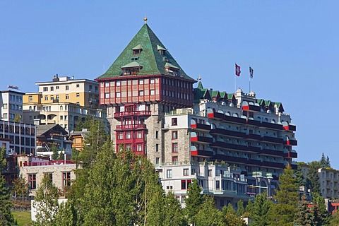 Palace Hotel, luxury hotel, St. Moritz, Upper Engadine, Engadine, Grisons, Switzerland, Europe