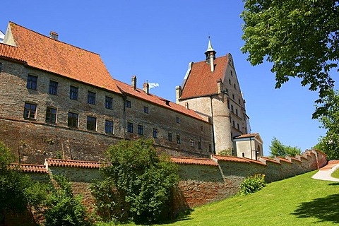 Trausnitz Castle near Landshut, Bavaria, Germany, Europe