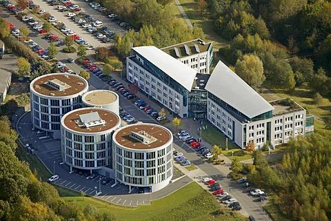 Aerial shot, ZBZ-Witten GmbH, Witten Centre of Dental Research, Witten, Ruhr district, North Rhine-Westphalia, Germany, Europe