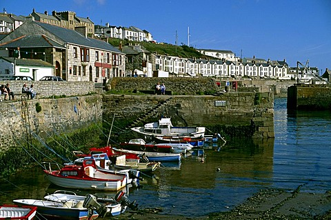Porthleven in 1990, Cornwall, England, United Kingdom, Europe
