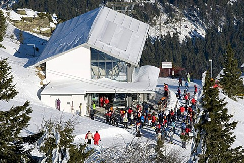Mountain station of the cable car at the Grosser Arber, 1456m, Bavarian Forest Nature Park, Bavaria, Germany, Europe