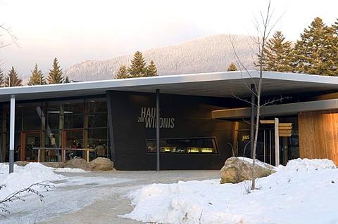 National park house Haus zur Wildnis, Naturpark Bayerischer Wald national park, Bavarian Forest, Bavaria, Germany, Europe