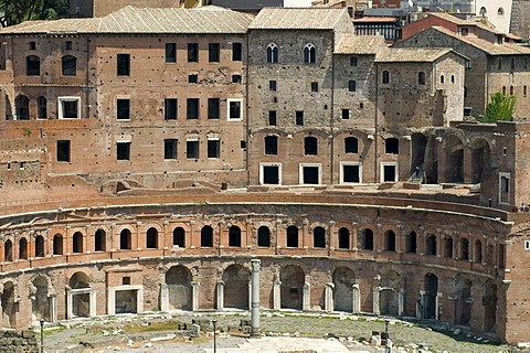 Mercatus Traiani Trajan's Market, Rome, Italy, Europe