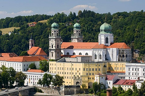 St. Stephen's Cathedral, Old and New Residence, Passau, Bavarian Forest, Bavaria, Germany, Europe