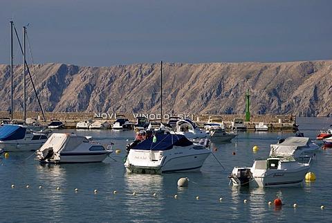 Boats in the port, Novi Vinodolski, Kvarner Gulf, Croatia, Europe