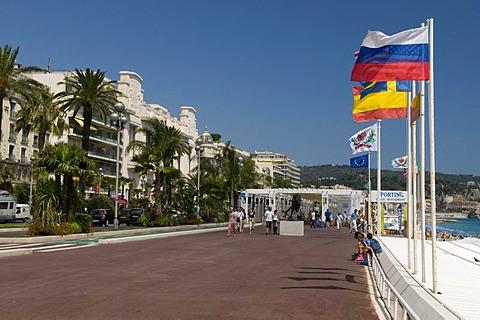 Promenade des Anglais, Nice, Cote d'Azur, Provence, France, Europe