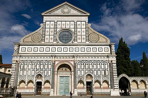 Gothic Dominican church of Santa Maria Novella, UNESCO World Heritage Site, Florence, Tuscany, Italy, Europe