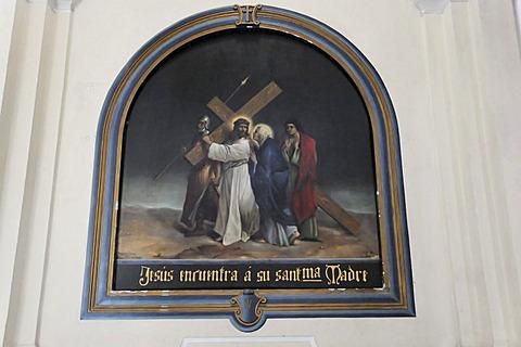 Religious mural, Catedral de la Asuncion, 1860, Leon, Nicaragua, Central America