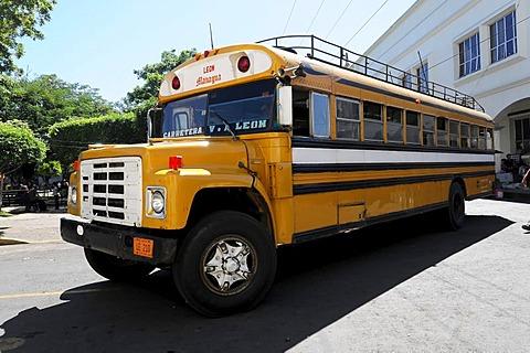 Express bus Leon - Managua, Leon, Nicaragua, Central America