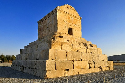 Tomb of Cyrus II., archaeological site of Pasargadae, UNESCO World Heritage Site, Persia, Iran, Asia