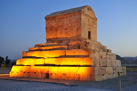 Tomb of Cyrus II., archeological site of Pasargadae, UNESCO World Heritage Site, Persia, Iran, Asia