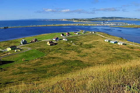 View from Ile du Havre aux Maisons over Ile du Cap aux Meules, Iles de la Madeleine, Magdalen Islands, Quebec Maritime, Canada, North America