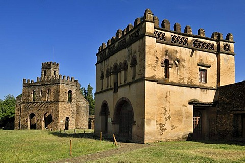 Library and Fasiladas Archive, Royal Enclosure Fasil Ghebbi, UNESCO World Heritage Site, Gonder, Gondar, Amhara, Ethiopia, Africa