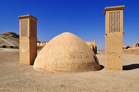 Tower of Silence, Zoroastrian burial ground, Zoroastrianism, Mazdanism, Yazd, Persia, Iran, Asia