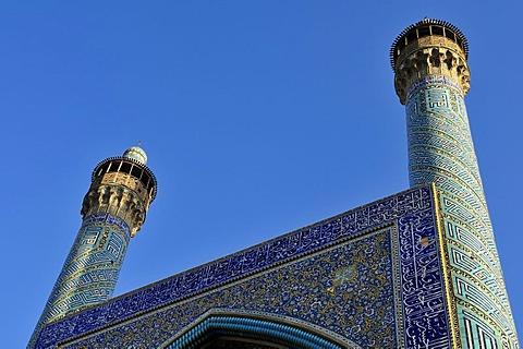 Shah or Imam, Emam Mosque at Meidan-e Emam, Naqsh-e Jahan, Imam Square, UNESCO World Heritage Site, Esfahan, Isfahan, Iran, Persia, Asia
