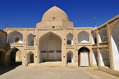 Four Iwan yard in the complex of the congregational Mosque in Nain, Isfahan, Esfahan, Iran, Persia, Asia