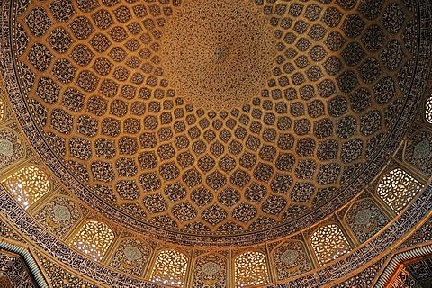 Highlight of Persian architecture, Sheik Lotfollah, Lotf Allah Mosque, UNESCO World Heritage Site, Isfahan, Esfahan, Iran, Persia, Asia