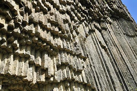 Huge basalt columns at Awan Gorge near Garni, Canyon, Kotayk region, Armenia, Asia