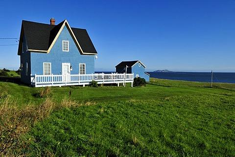 Typical wooden house on Ile du Havre aux Maisons, Iles de la Madeleine, Magdalen Islands, Quebec Maritime, Canada, North America