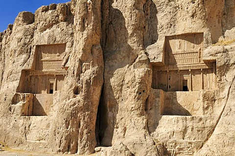 Tomb of Darius II. and of Artaxerxes I., Achaemenid burial site Naqsh-e Rostam, Rustam near the archeological site of Persepolis, UNESCO World Heritage Site, Persia, Iran, Asia
