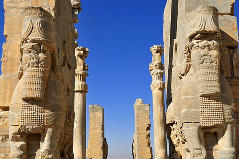 Propylon, Gate of all Nations, Achaemenid archeological site of Persepolis, UNESCO World Heritage Site, Persia, Iran, Asia