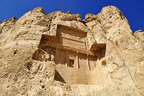 Tomb of King Darius II., Achaemenid burial site Naqsh-e Rostam, Rustam near the archeological site of Persepolis, UNESCO World Heritage Site, Persia, Iran, Asia