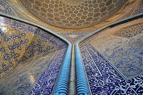 Highlight of persian architecture, interior of Sheik Lotfollah, Lotf Allah Mosque, Esfahan, UNESCO World Heritage Site, Isfahan, Iran, Persia, Asia