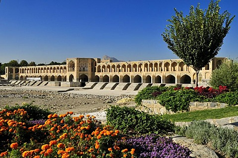 Pol-e Khaju Bridge, Isfahan, Esfahan, UNESCO World Heritage Site, Persia, Iran, Asia