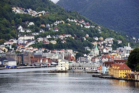 Harbor area of Bergen, Norway, Scandinavia, Northern Europe