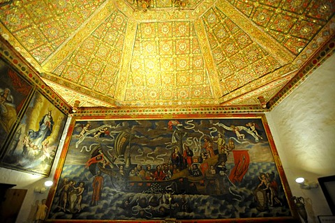 Sacristy of the parish church Iglesia Santa Maria, Betancuria, Fuerteventura, Canary Islands, Spain, Europe