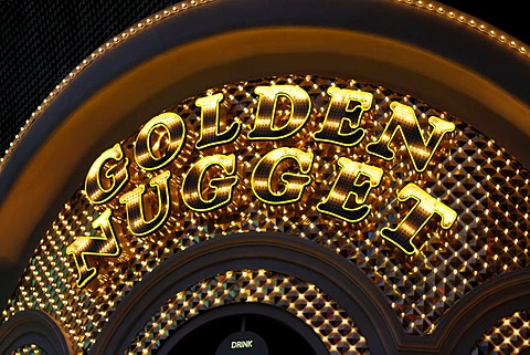 Golden Nugget in Fremont Street in old Las Vegas, Nevada, USA